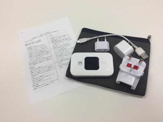 ジャパエモのWiFiの海外Wi-Fi貸出セットの一例