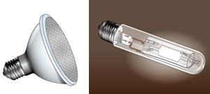 業務用を中心に使われている「電球」の光源の種類