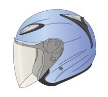 ジェット形ヘルメット