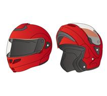 フリップアップ形ヘルメット