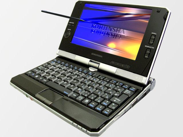 2008年発売のネットブックタッチパネルで画面が開店するのでタブレットPCにもなる。