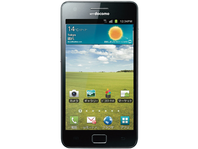 �h�R�� �X�}�[�g�t�H�� GALAXY S II SC-02C [Noble Black]