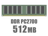 DIMM DDR SDRAM PC2700 512MB CL2.5