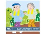 写真素材 DAJ digital images 094 ILLUSTRATION SENIOR [イラストシリーズ〜介護・シルバー]