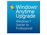 Windows Anytime Upgrade パック Starter から Professional ダウンロード版