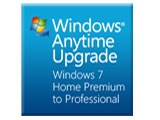 Windows Anytime Upgrade パック Home Premium から Professional ダウンロード版