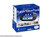 PlayStation Vita (�v���C�X�e�[�V���� ���B�[�^) Super Value Pack 3G/Wi-Fi���f�� PCHJ-10019 [�N���X�^���E�u���b�N]