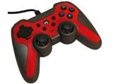 PS3/PSVitaTV用ラバーコートコントローラーターボ2 SASP-0291 [レッド×ブラック]