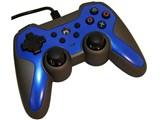 PS3/PSVitaTV用ラバーコートコントローラーターボ2 SASP-0292 [ブルー×ブラック]