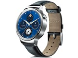 Huawei Watch W1 Classic leather [�V���o�[/�u���b�N���U�[�o���h]