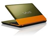 VAIO C15 VJC1511/Celeron/メモリー4GB/HDD500GB/DVDドライブ付モデル [オレンジ/カーキ]