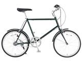 20型クロモリ自転車コンパクトタイプ 泥除け付き 76281900 [グリーン]