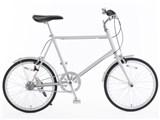 20型クロモリ自転車コンパクトタイプ 泥除け付き 76281863 [グレー]