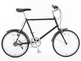 20型クロモリ自転車コンパクトタイプ 泥除け付き 76281887 [ワインレッド]
