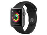 Apple Watch Series 3 GPSモデル 42mm MQL12J/A [ブラックスポーツバンド]