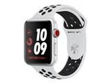 Apple Watch Nike+ Series 3 GPS+Cellularモデル 42mm MQME2J/A [ピュアプラチナ/ブラックNikeスポーツバンド]