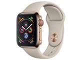 Apple Watch Series 4 GPS+Cellularモデル 40mm MTVN2J/A [ゴールドステンレススチールケース/ストーンスポーツバンド]