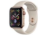 Apple Watch Series 4 GPS+Cellularモデル 44mm MTX42J/A [ゴールドステンレススチールケース/ストーンスポーツバンド]