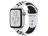 Apple Watch Nike+ Series 4 GPSモデル 40mm MU6H2J/A [ピュアプラチナム/ブラックNikeスポーツバンド]