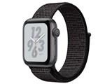 Apple Watch Nike+ Series 4 GPSモデル 40mm MU7G2J/A [ブラックNikeスポーツループ]