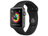 Apple Watch Series 3 GPSモデル 42mm MTF32J/A [ブラックスポーツバンド]