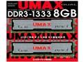 UMAX Cetus DCDDR3-8GB-1333 [DDR3 PC3-10600 4GB 2���g]