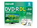 マクセル DRD215WPE.5S [DVD-R DL 8倍速 5枚組]