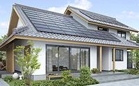 ソーラーフロンティア 屋根を飾るシックなデザインのパネルは20年の長期保証